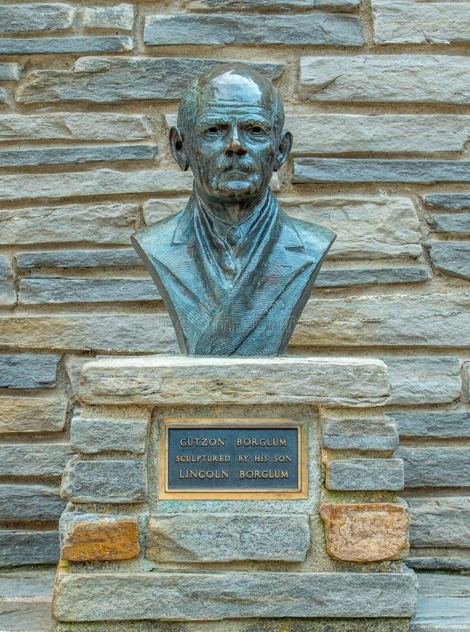 Скульптура Mount Rushmore национальная мемориальная Borglum стоковое фото rf