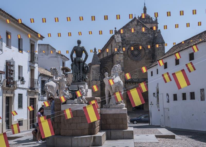 Скульптурный ансамбль предназначенный к bullfighter вызванному Manolete, ` Манюэля Родригеса `, Cordoba, Испанией стоковое фото
