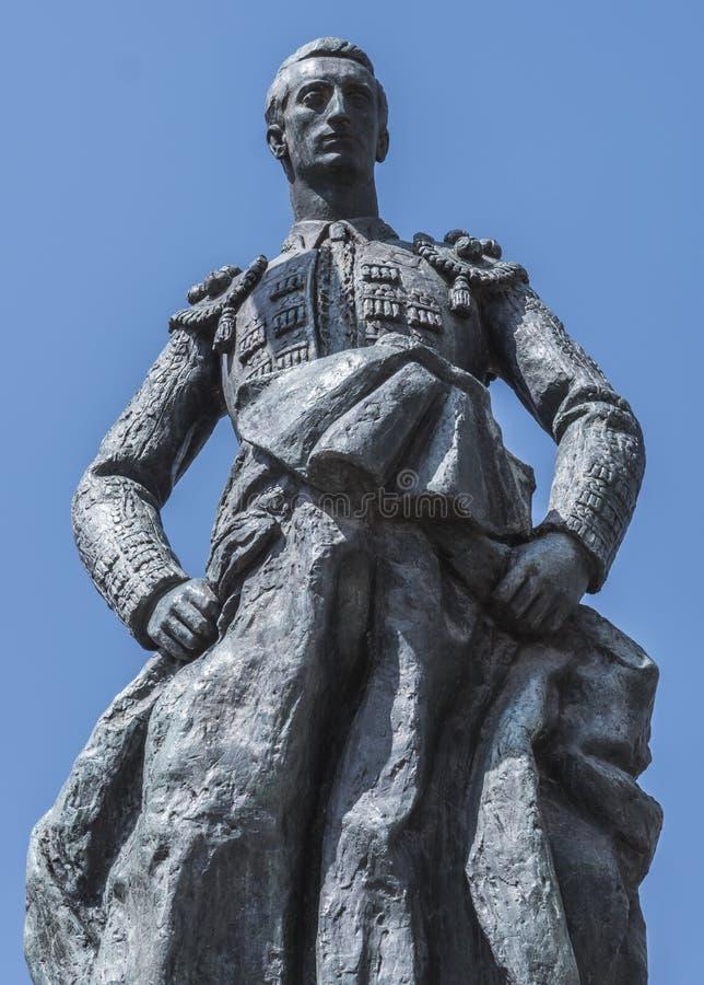 Скульптурный ансамбль предназначенный к bullfighter вызванному Manolete, ` Манюэля Родригеса `, Cordoba, Испанией стоковые фотографии rf