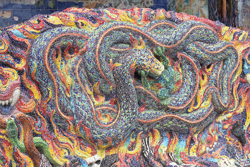 Скульптуры различных животных, Таиланда, Юго-Восточной Азии стоковые фото