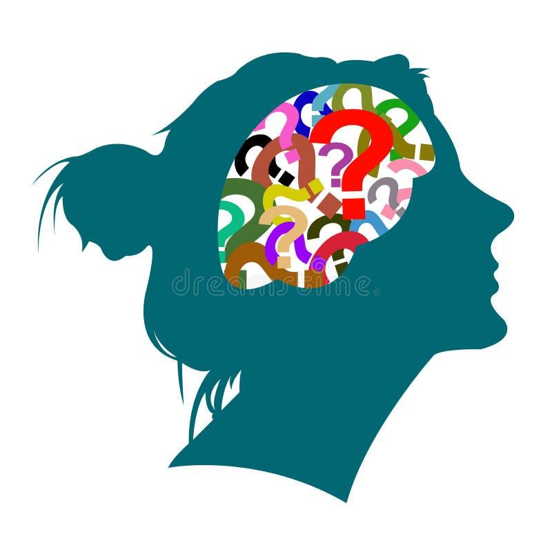 Склад ума женщины иллюстрация штока