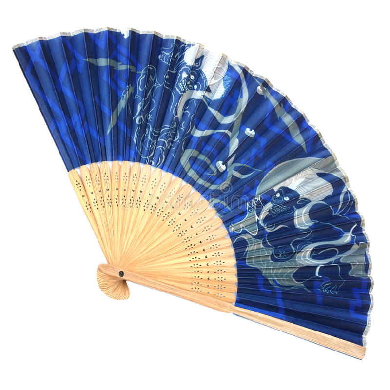 Складчатость античного вентилятора японская стоковая фотография