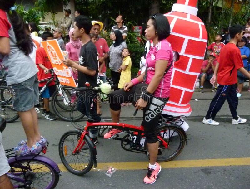 Складывая велосипед стоковое фото