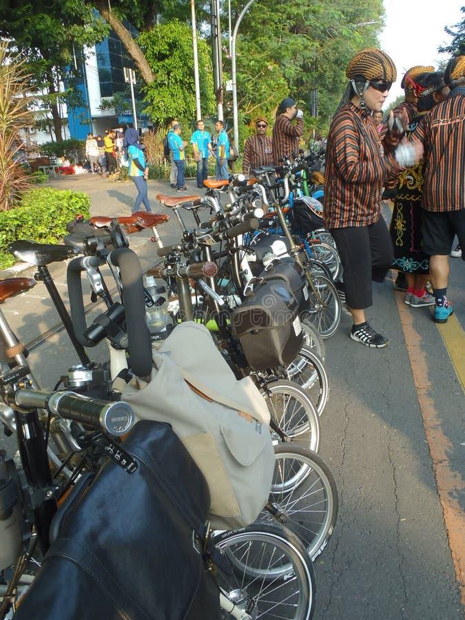 Складывая велосипед стоковая фотография rf