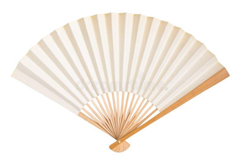 Складывая изолированный вентилятор стоковая фотография rf