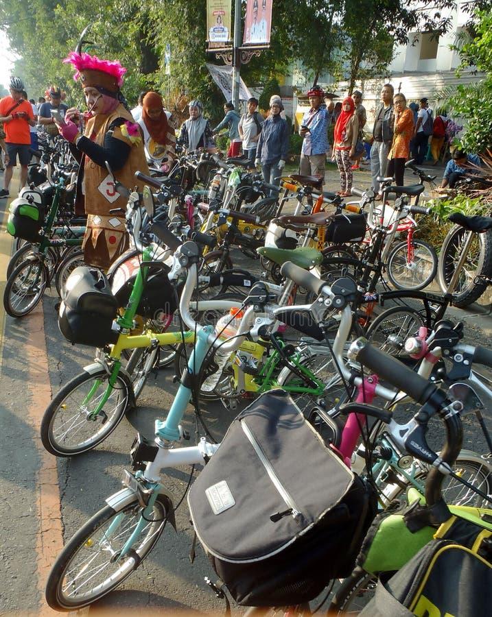 Складывая община велосипеда стоковое изображение rf