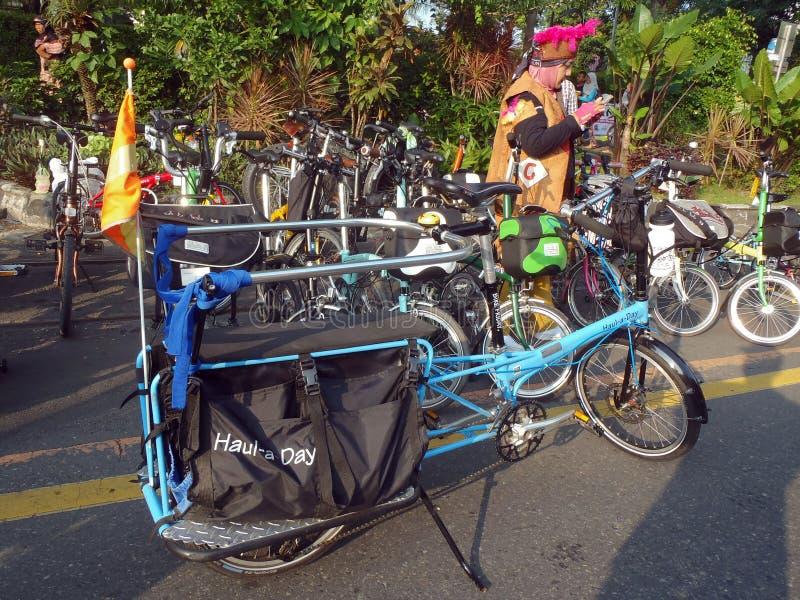 Складывая община велосипеда стоковые фотографии rf