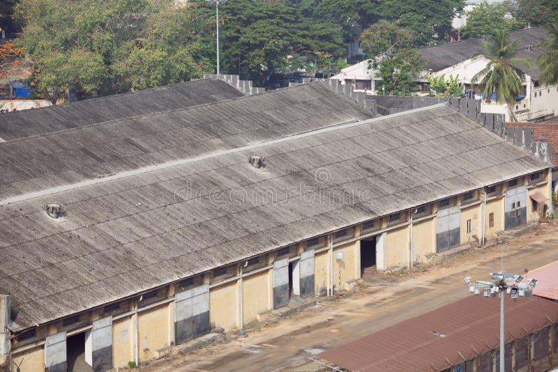 Склады в порте Cochin стоковые изображения rf
