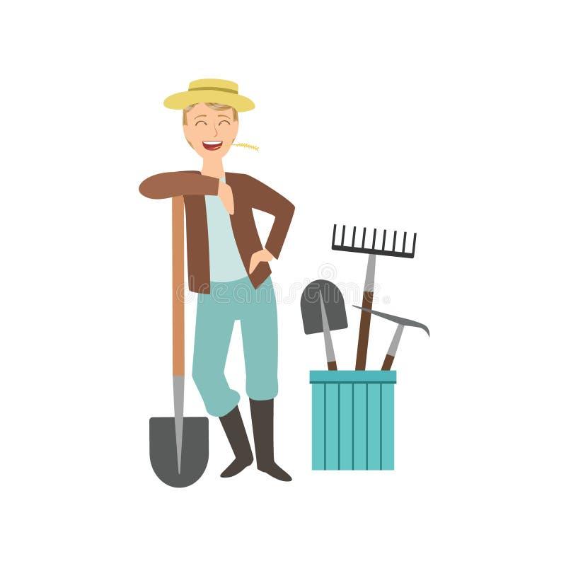 для открытки с лопатами готовят праздничный