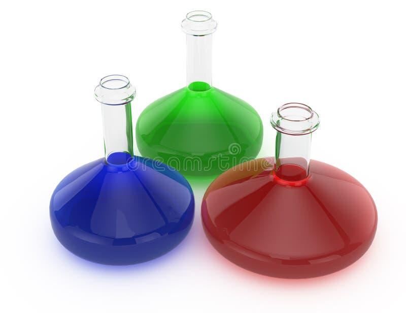Склянки лаборатории иллюстрация штока