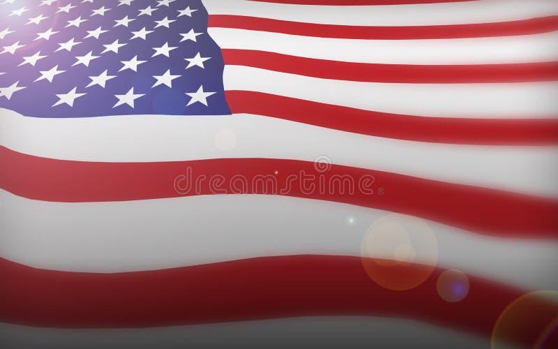 слава американского флага старая иллюстрация штока