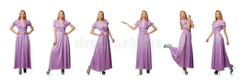 Славная женщина в одежде моды - составном изображении стоковое фото rf