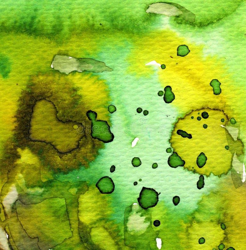 Славная зеленая акварель иллюстрация штока