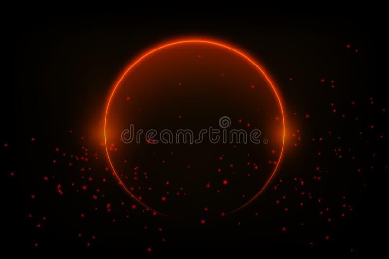 Славная красочная накаляя предпосылка круга для вашей творческой работы r иллюстрация вектора