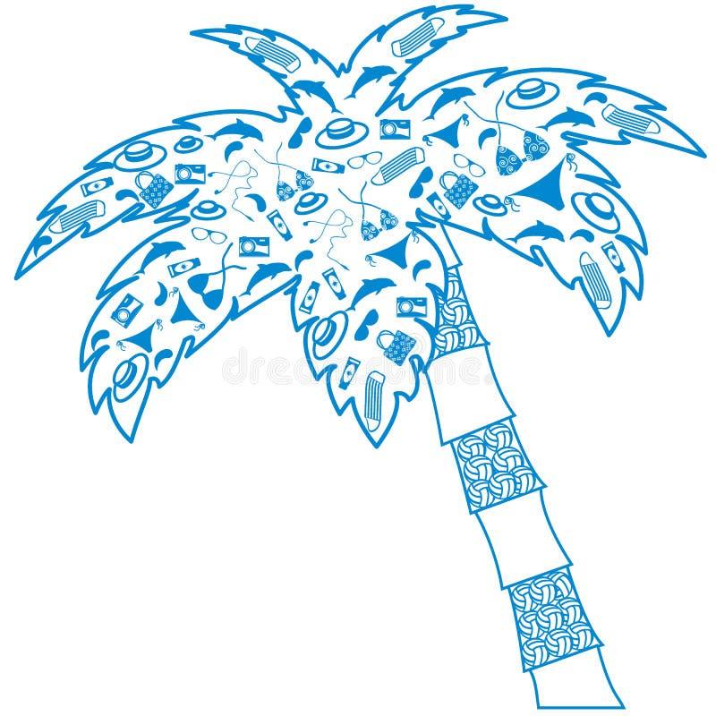 Славное изображение: наполненный ладон контур silhouettes аксессуары для a иллюстрация вектора