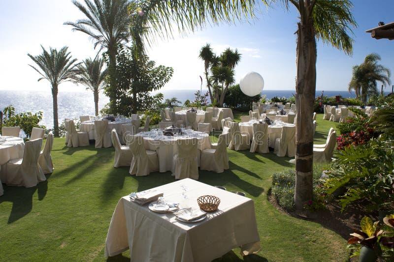 Славное место для точный обедать на пляже стоковая фотография rf