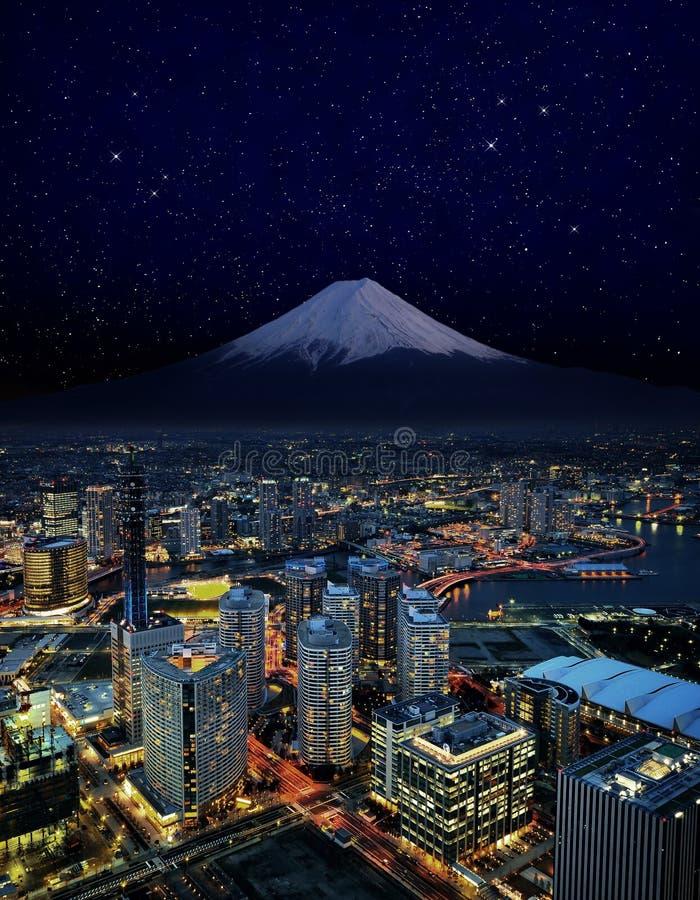 Славное небо над городом yokohama стоковое изображение rf