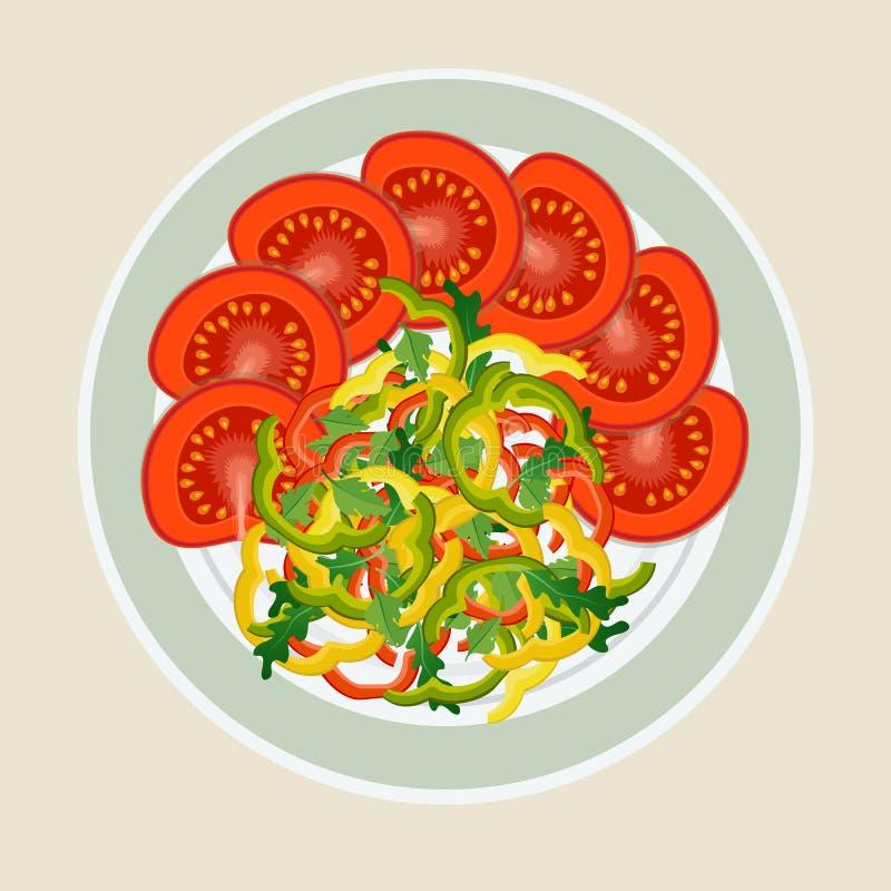 Славно положенные томаты и перцы бесплатная иллюстрация