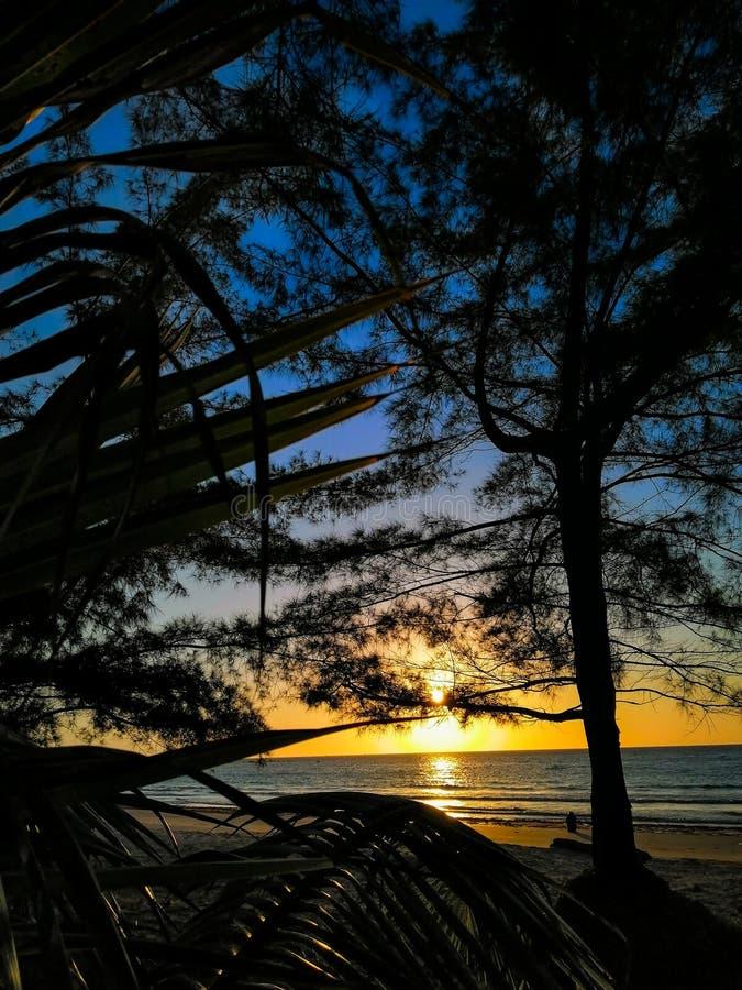 славный взгляд oren солнце моря цвета стоковое фото rf