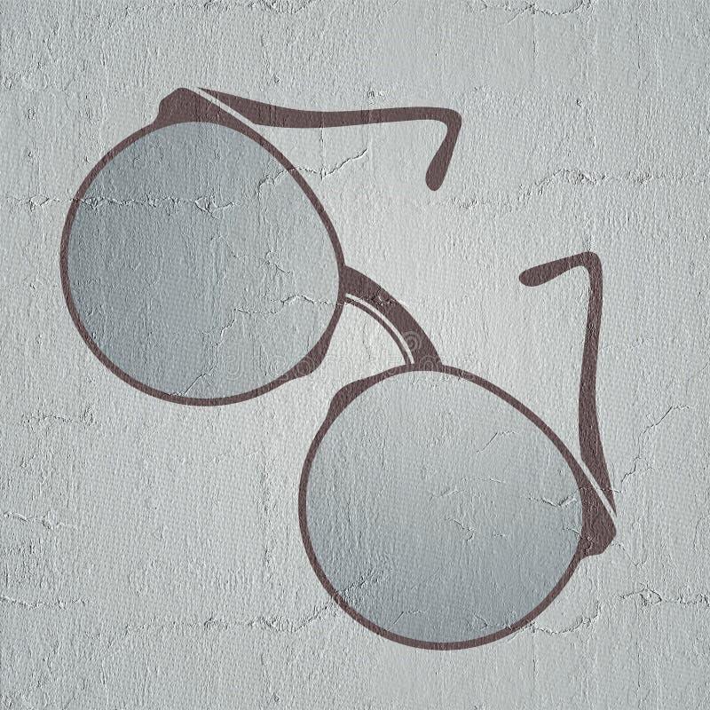 Славный дизайн eyeglasses иллюстрация штока
