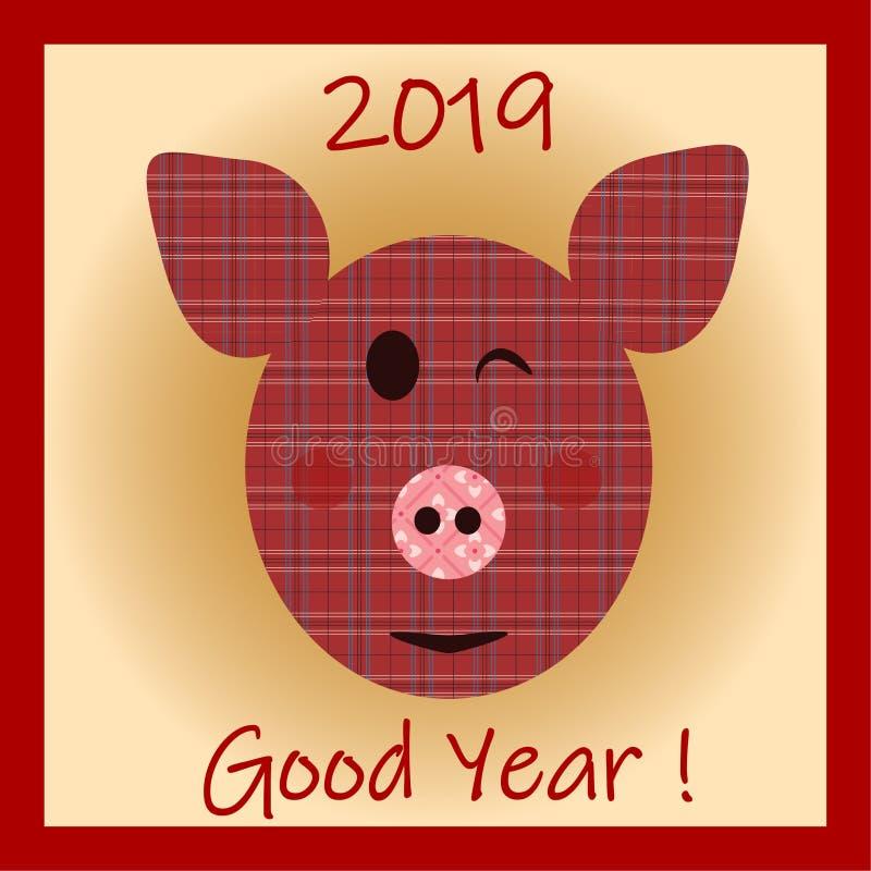 Славный и жизнерадостный символ свиньи 2019 китайских Новых Годов стоковая фотография