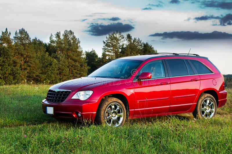 Славный красный автомобиль стоковая фотография rf