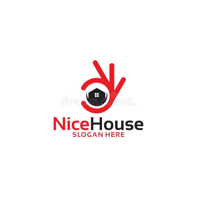 Славный логотип дома, компания логотипа недвижимости иллюстрация штока
