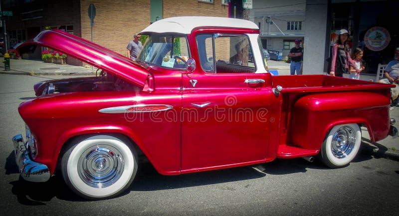 Славный старый автомобиль на выставке автомобиля стоковая фотография