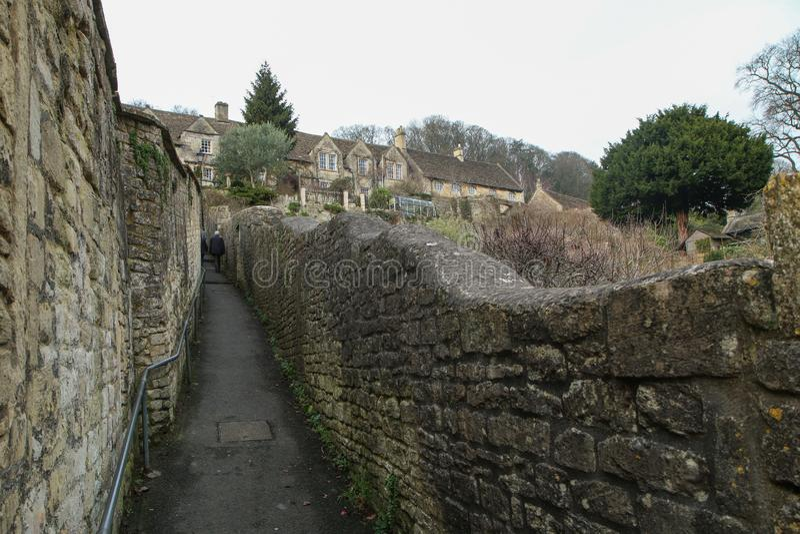 Славный старый городок Брэдфорд на Эвон в Великобритании стоковое фото