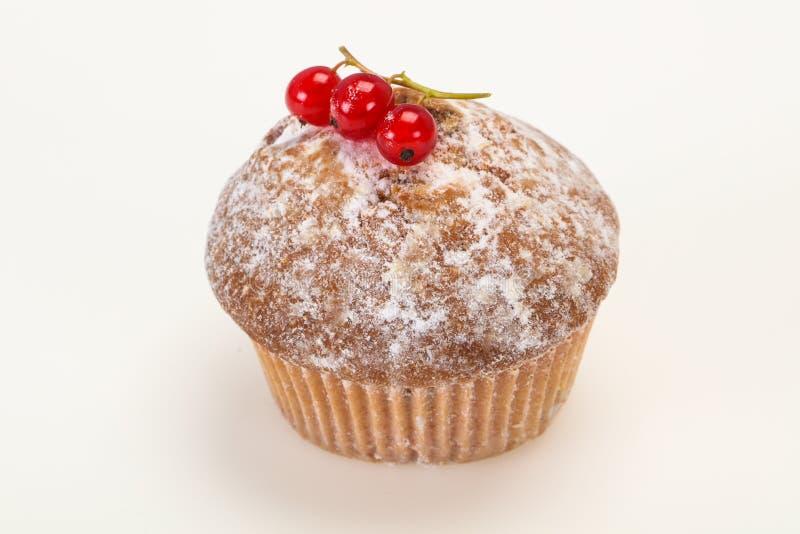 Сладкая вкусная булочка с красными смородинами стоковые фотографии rf