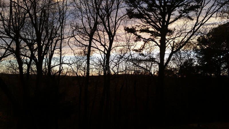 Сладкий заход солнца Ozark стоковые изображения