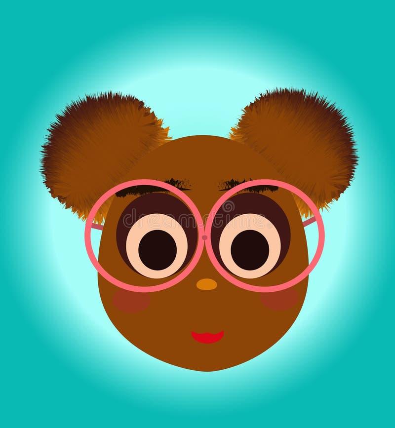 Сладкий и милый медведь неотразимая иллюстрация стоковое изображение rf