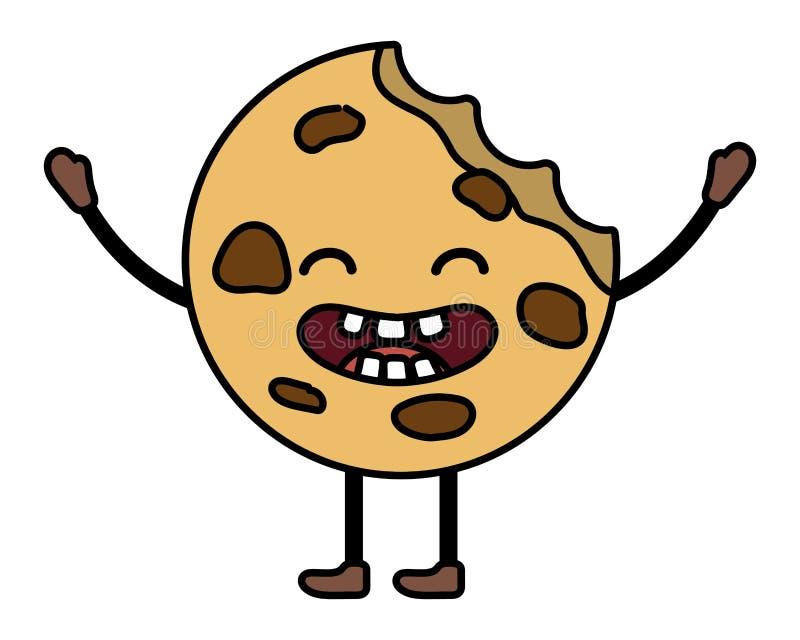 Сладкий мультфильм печенья иллюстрация штока