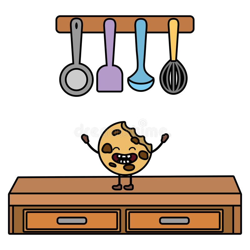 Сладкий мультфильм печенья бесплатная иллюстрация