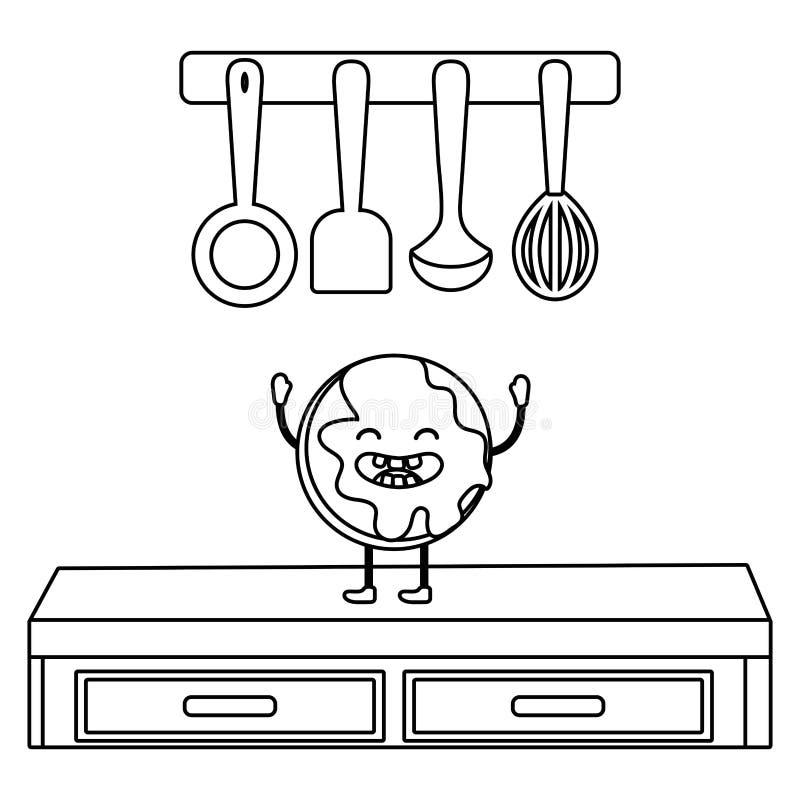 Сладкий мультфильм печенья иллюстрация вектора