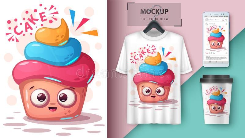 Сладкий торт - модель-макет для вашей идеи бесплатная иллюстрация