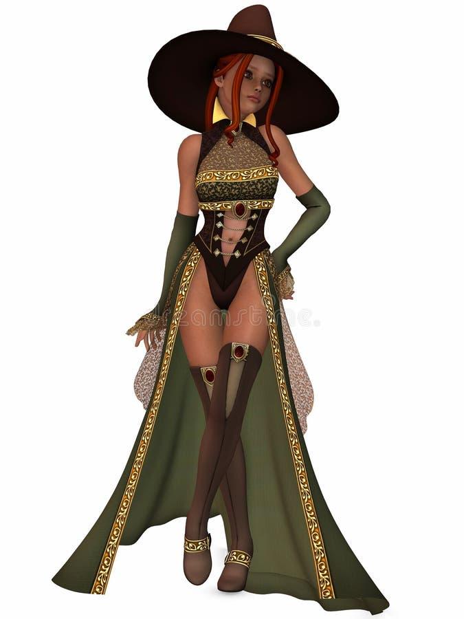 сладостная ведьма иллюстрация штока