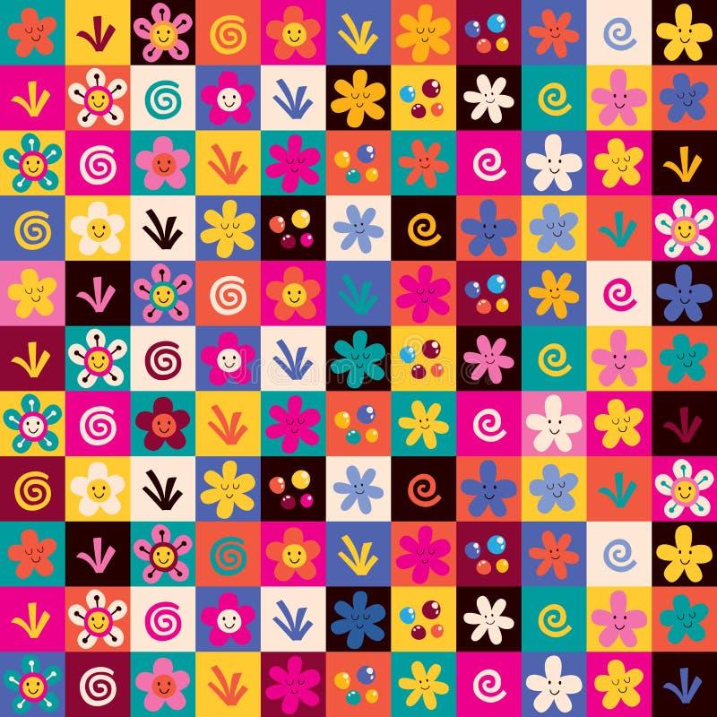 Сладостная картина цветков иллюстрация вектора
