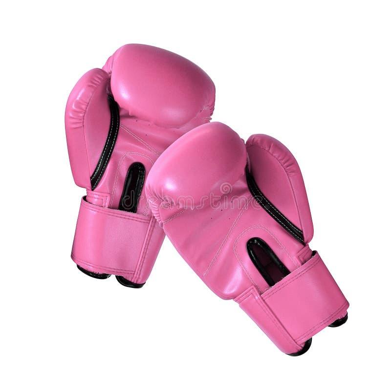 Сладостные перчатки бокса неподдельной кожи цвета пастельного пинка стоковое фото