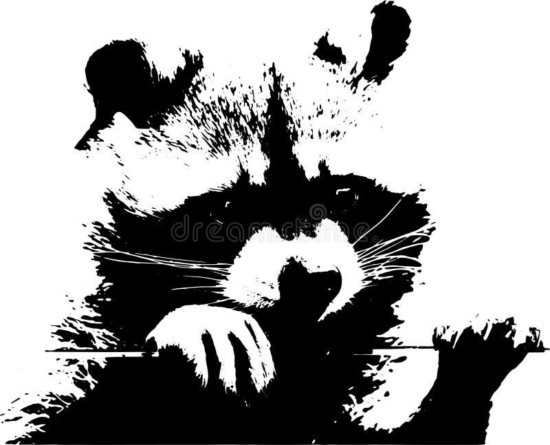 Сладостный маленький енот - иллюстрация стоковые фотографии rf