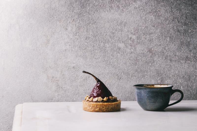 Сладостный tartlet с кофе стоковая фотография