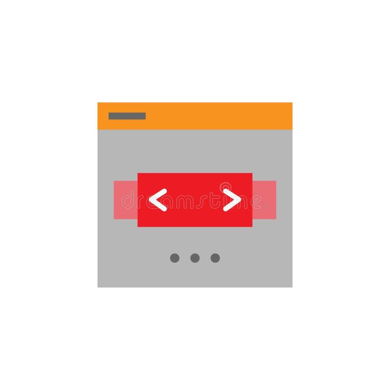 Слайдер, значок переключателя Элемент значка Desing сети для мобильных приложений концепции и сети Детализированный слайдер, знач иллюстрация вектора