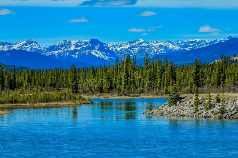 Следовать южным рекой Саскачевана стоковые фото