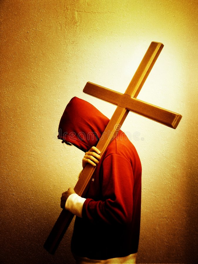 следуя за jesus стоковое фото