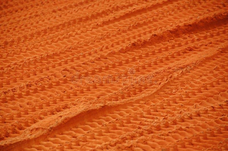 следы глины бульдозера стоковые фото