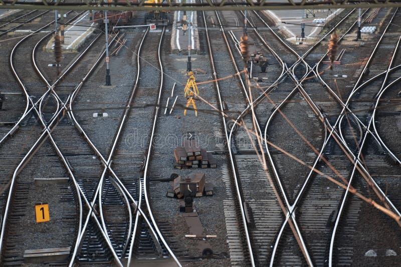 Следы железнодорожного вокзала стоковая фотография rf