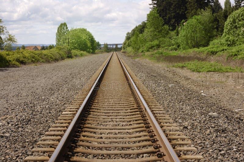 следы железной дороги стоковое изображение rf