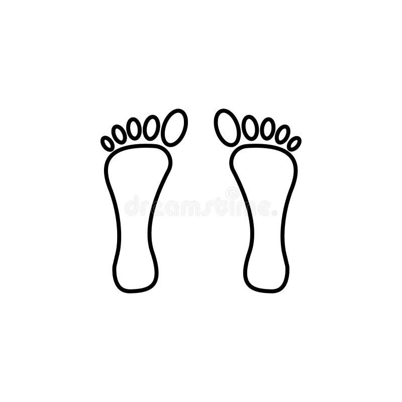 Следы ноги освещают значок dewali фестиваля на белой предпосылке Элементы фестиваля Diwali индусские для графика и веб-дизайн на  бесплатная иллюстрация