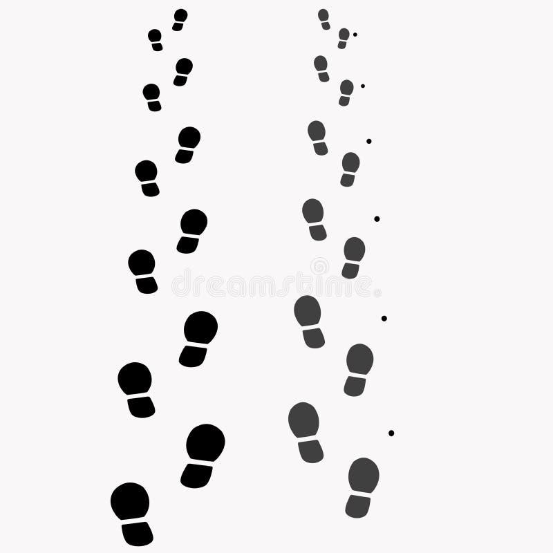 Следы ноги от ботинок иллюстрация вектора