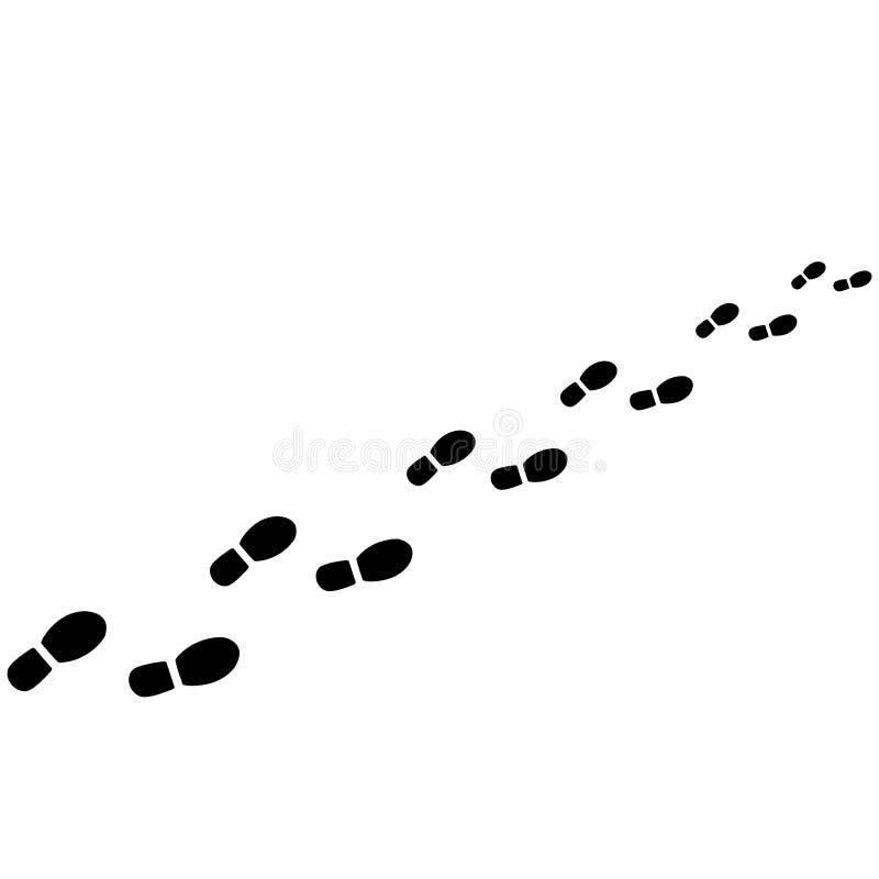 Следы ноги от ботинок иллюстрация штока